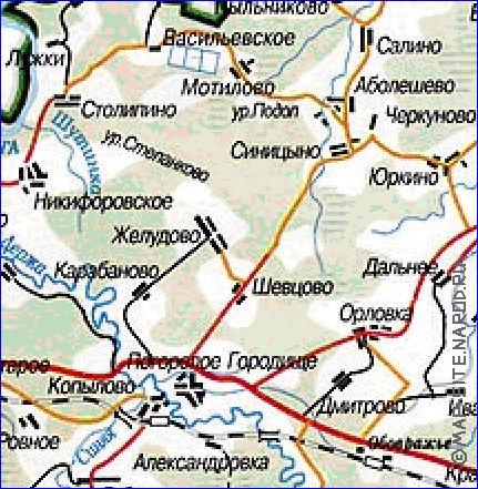 Подробная карта зубцовского уезда